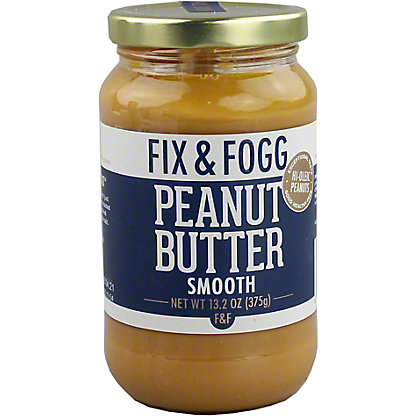 Fix & Fogg Smooth Peanut Butter, 13.2 oz