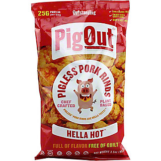 PIG OUT Hella Hot Pigless Pork Rinds, 3.5 oz
