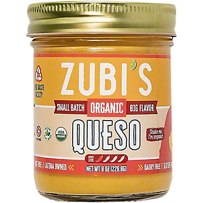 Zubi's Organic Dairy Free Queso Dip, 8 oz