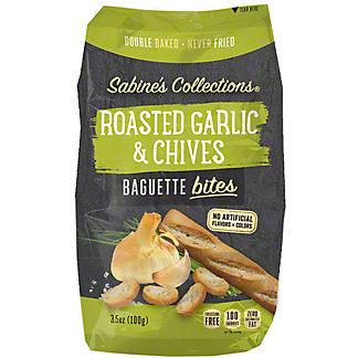Sabine's Collections Roasted Garlic & Chives Baguette Bites, 3.5 oz
