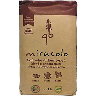 Miracolo Ancient Wheat Flour, 2.2 lb