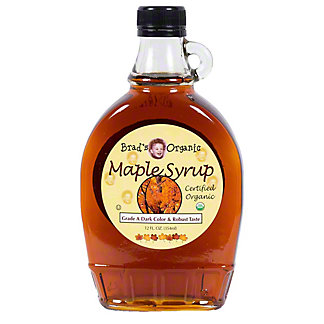 Brad's Organic Maple Syrup Dark Grade A, 16 oz