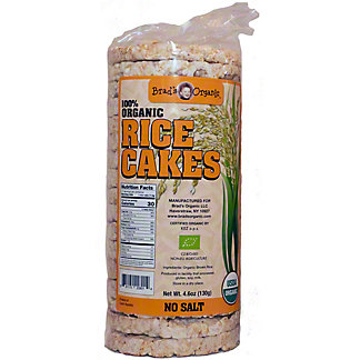 Brad's Organic Rice Cakes No Salt, 4.6 oz