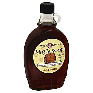 Brad's Organic Grade A Very Dark Maple Syrup, 12 fl oz