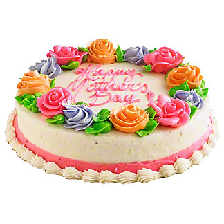 Central Market Happy Mother's Day Chocolate Cake with White Buttercream, 8 Inch