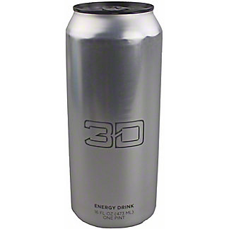 3D Chrome Energy Drink, 16 oz