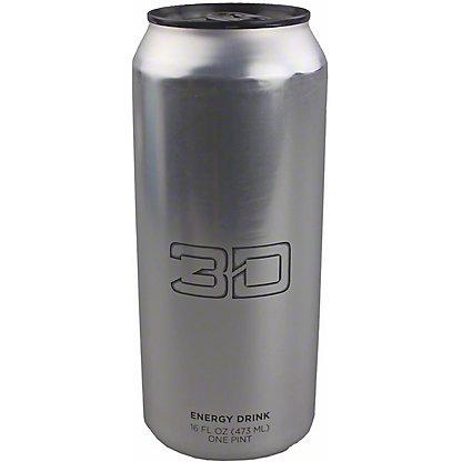 3D Chrome Energy Drink, 16 oz