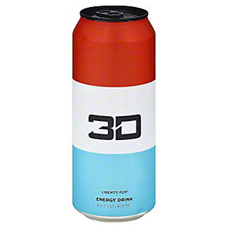 3D Liberty Pop Energy Drink, 16 oz