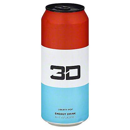3D Liberty Pop Energy Drink, 16 oz