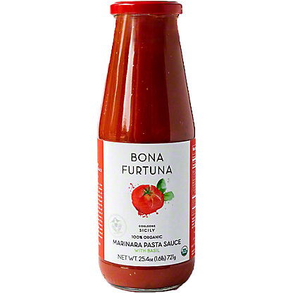 Bona Furtuna Organic Basil Marinara Pasta Sauce, 25.4 oz