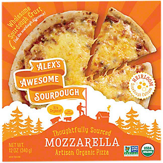 Alex's Awesome Sourdough Artisan Organic Mozzarella Pizza, 12 oz
