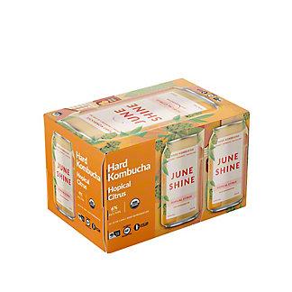 Juneshine Hopical Citrus Hard Kombucha 12 oz Cans, 6 pk