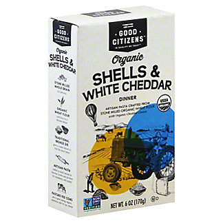 Good Citizens Organic Pasta Shells & White Cheddar Dinner, 6 oz