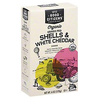 Good Citizens Organic Grass Fed Pasta Shells & White Cheddar Dinner, 6 oz
