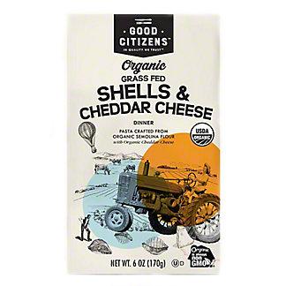 Good Citizens Organic Grass Fed Shells & Cheddar Cheese Dinner, 6 oz
