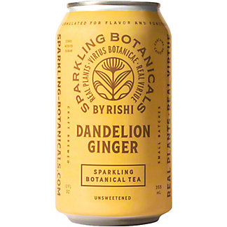 Rishi Sparkling Botanical Dandelion Ginger, 12 fl oz