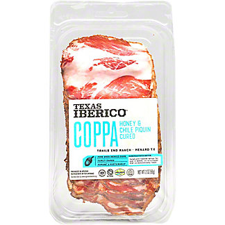 Texas Iberico Honey & Chile Piquin Cured Sliced Coppa, 2 oz