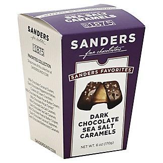 Sanders The Favorites Collection Dark Chocolate Sea Salt Caramels, 6 oz