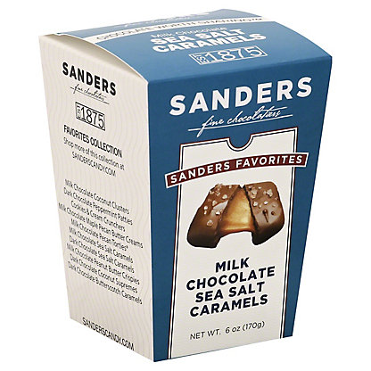 Sanders The Favorites Collection Milk Chocolate Sea Salt Caramel Box, 6 oz