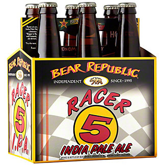 Bear Republic Racer 5 IPA, 6 pk Glass Bottles, 12 fl oz ea