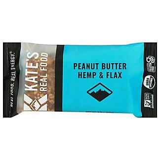 Kate's Real Food Stash Bar Peanut Butter Hemp & Flax, 2.2 oz