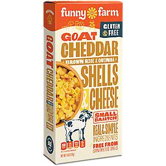 Funny Farm Goat Cheddar Cheese Brown Rice & Quinoa Shells, 6 oz