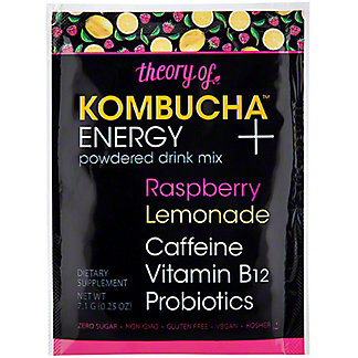 Theory Of Kombucha Energy Raspberry Lemonade Drink Mix Packet, .25 oz