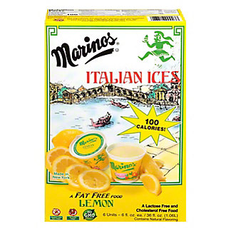 Marinos Lemon Italian Ice, 6 fl oz ea