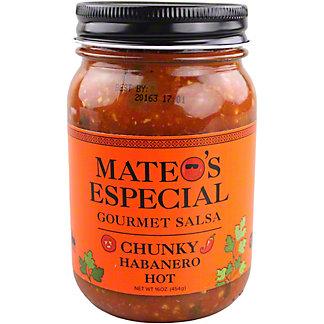 Mateo's Especial Chunky Habanero Hot Gourmet Salsa, 16 oz