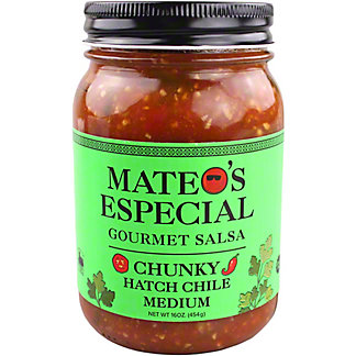 Mateo's Especial Chunky Hatch Chile Medium Gourmet Salsa, 16 oz