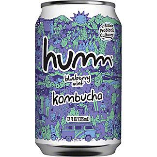Humm Kombucha Blueberry Mint, 12 fl oz