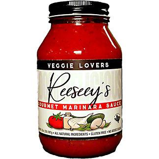 Reeseey's Veggie Lovers Gourmet Pasta Sauce, 32 oz