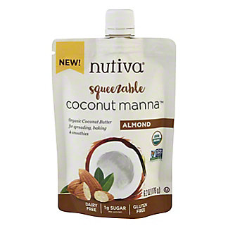 Nutiva Squeezable Organic Coconut Manna Almond Coconut Butter, 6.2 oz