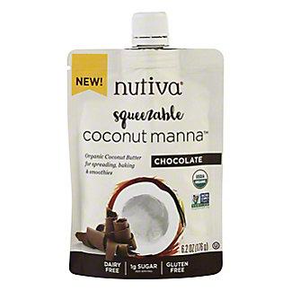 Nutiva Squeezable OrganicCoconut Manna Chocolate Coconut Butter, 6.2 oz