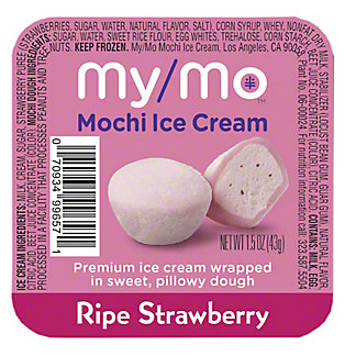 My/mo Mochi Ice Cream Strawberry, 1.5 oz