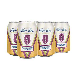 Mama Bear Passion Fruit Turmeric Hard Kombucha 12 oz Cans, 6 pk