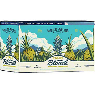 Wild Acre Texas Blonde Pineapple, 6 pk Cans, 12 fl oz ea