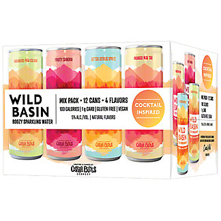 Wild Basin Cocktail Inspired Boozy Sparkling Water Variety Pack 12 oz Cans, 12 pk