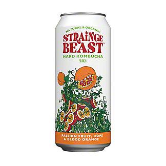 Strainge Beast Hard Kombucha Passion Fruit, Hops & Blood Orange Can, 16 oz