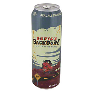Real Ale Devil's Backbone Belgian Style Tripel Beer, 19.2 oz