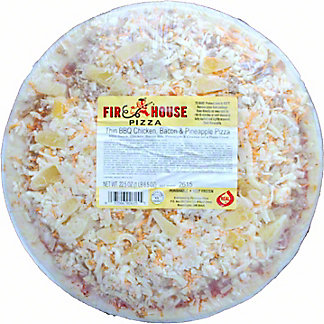 Firehouse Thin BBQ Chicken, Bacon & Pineapple Pizza, 22.5 oz