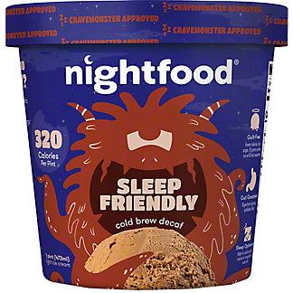 Nightfood Ice Cream Cold Brew Decaf, 1 pt