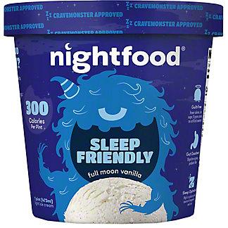 Nightfood Ice Cream Full Moon Vanilla, 1 pt
