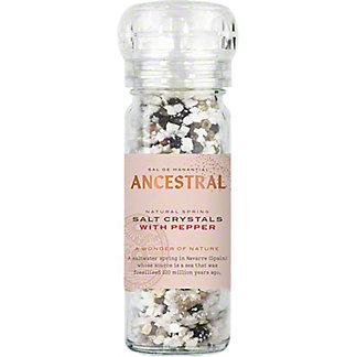 Ancestral Natural Spring Salt Crystals With Pepper, 3.17 oz