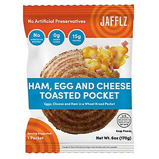 Jafflz Ham Egg & Cheese Toasted Pocket, 6 oz