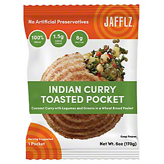 Jafflz Indian Curry Toasted Pocket, 6 oz