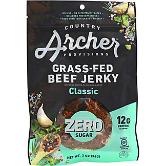 Country Archer Provisions Classic Zero Sugar Grass Fed Beef Jerky, 2 oz