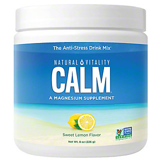 Natural Vitality Natural Vitality Calm, Magnesium Citrate Supplement Powder, Anti-Stress Drink Mix, Lemon, 8 oz