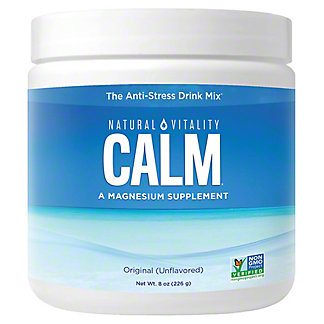Natural Vitality Natural Vitality Calm, Magnesium Citrate Supplement Powder, Anti-Stress Drink Mix, Unflavored, 8 oz