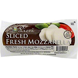 Lioni Fresh Mozzarella Sliced, 16 oz